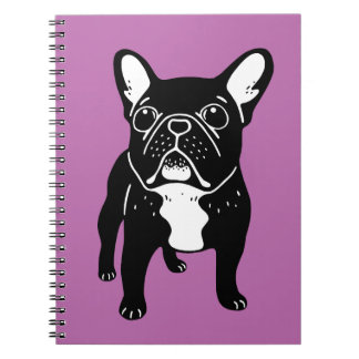 Super cute brindle French Bulldog Puppy Notebook