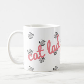Super Cute Cat Lady Mug