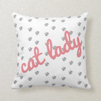 Super Cute Cat Lady Pillow