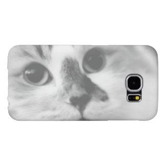 SUPER CUTE Cat Portrait Photograph Samsung Galaxy S6 Cases