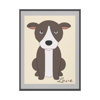 SUPER CUTE DOG, PUPPY WITH DROOPY EARS WALL ART