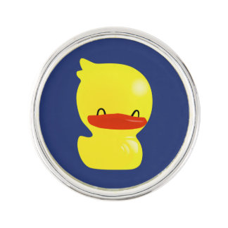 Super Cute Ducky (Blue Background) Lapel Pin