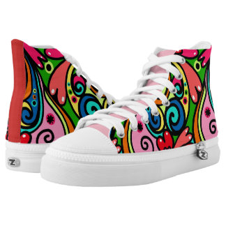 Super Cute Girly Graffiti Printed Shoes