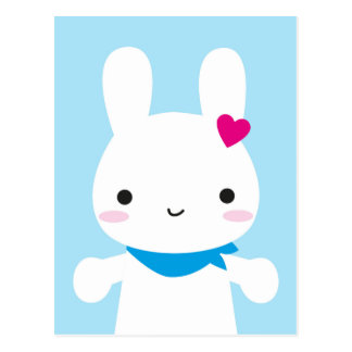 Super Cute Kawaii Bunny Postcard