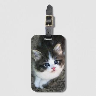 SUPER CUTE Kitten Portrait Luggage Tag