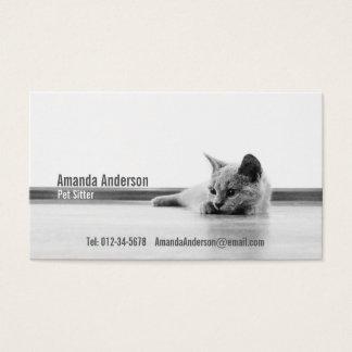 SUPER CUTE Kitten Portrait Photograph Business Card