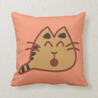 Super Cute Little Kawaii Meowing Cat Throw Pillow
