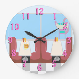 Super Cute Retro Fifties Diner Clock