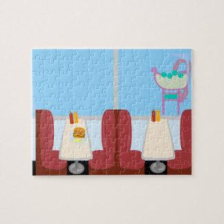 Super Cute Retro Fifties Diner Jigsaw Puzzles