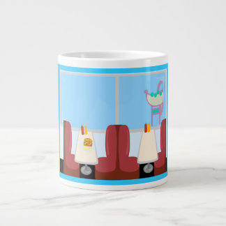 Super Cute Retro Fifties Diner Jumbo Mug