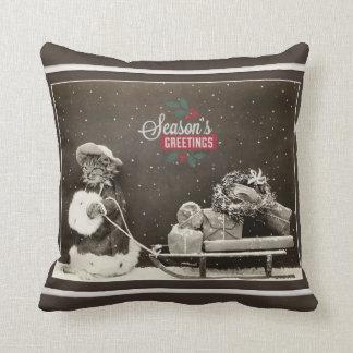 Super Cute Vintage Christmas Cat Cushion