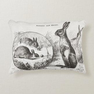 Super cute vintage rabbit bunny reversible pillow! decorative cushion