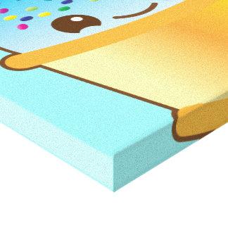 super cute Yummy Yummy bucket icecream! canvas pri Canvas Print