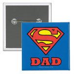 Super Dad 15 Cm Square Badge