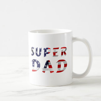 Super Dad and the American Flag Coffee Mug