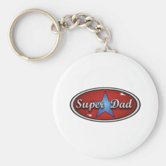 Super Dad Basic Round Button Key Ring