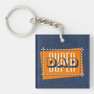 Super Dad. Father's Day Gift Keychains