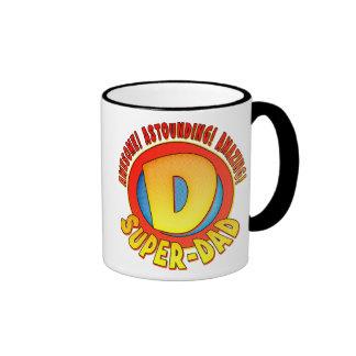 Super Dad Father's Day Ringer Mug