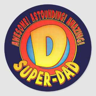 Super Dad Father's Day Stickers