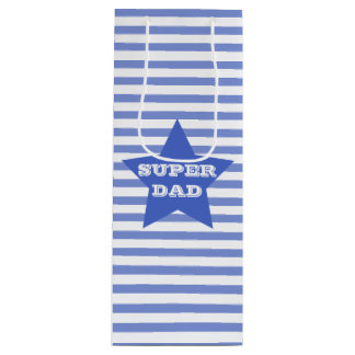 SUPER DAD | Father's | Navy Blue Star Gift Bag