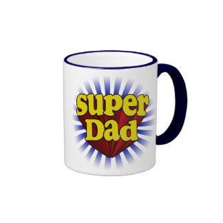 Super Dad Fresh Red Yellow Blue Fathers Day Mug