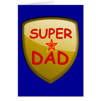 Super Dad Gold Shield Card