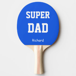 Super Dad Name Personalized Ping Pong Paddle