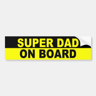 SUPER DAD ON BOARD BUMPER STICKER