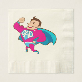 SUPER DAD PAPER NAPKIN