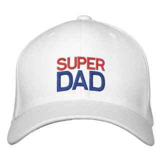 Super Dad - Red White and Blue Hat Embroidered Baseball Caps