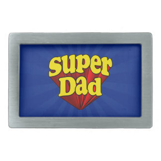 Super Dad Red Yellow Blue Father's Day Superhero Belt Buckles