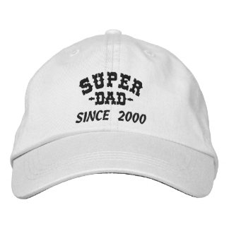 Super Dad Since Embroidered Hat