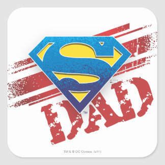 Super Dad Stripes Square Sticker