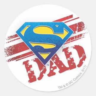 Super Dad Stripes Sticker