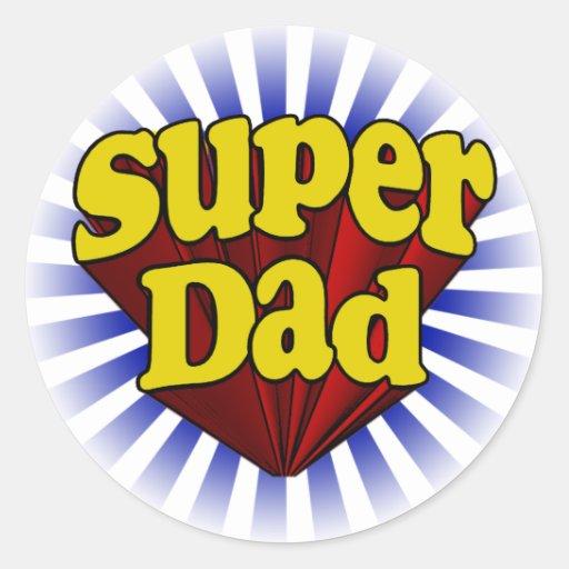 Super Dad, Superhero Red/Yellow/Blue Sticker