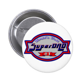 Super Dads for the Family 6 Cm Round Badge