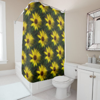 super daisies shower curtain