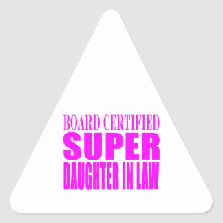 Super Daughters in Law Pink Super Daughter in Law Stickers