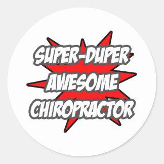 Super Duper Awesome Chiropractor Round Sticker