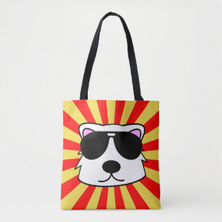 Super Duper Chill Bear Tote Bag