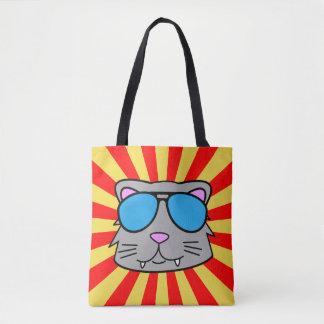 Super Duper Cool Cat Tote Bag