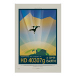 Super Earth Tour - Retro NASA Travel Poster