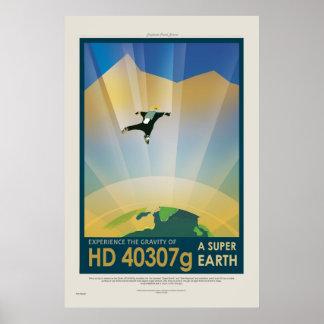 Super Earth Tour - Retro NASA Travel Poster