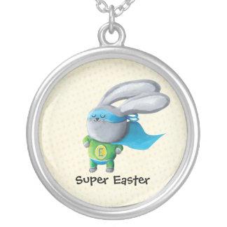 Super Easter Bunny - custom txt - Custom Necklace