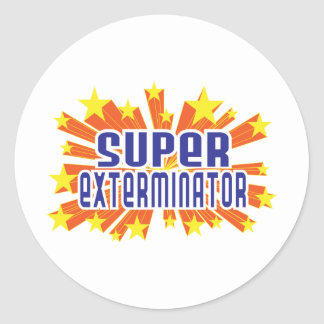 Super Exterminator Round Sticker