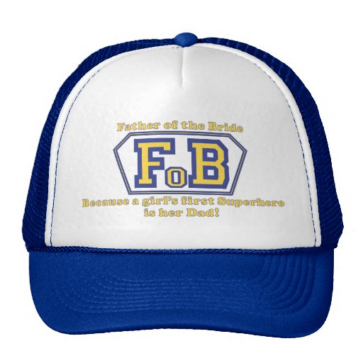 Super Father of the Bride Trucker Hats