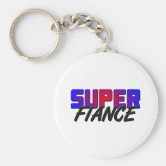 Super Fiance Basic Round Button Key Ring