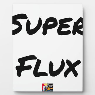 SUPER FLOW - Word games - François City Plaque