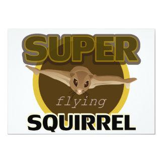 Super Flying Squirrel 13 Cm X 18 Cm Invitation Card