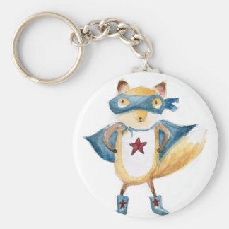 Super Fox! Basic Round Button Key Ring